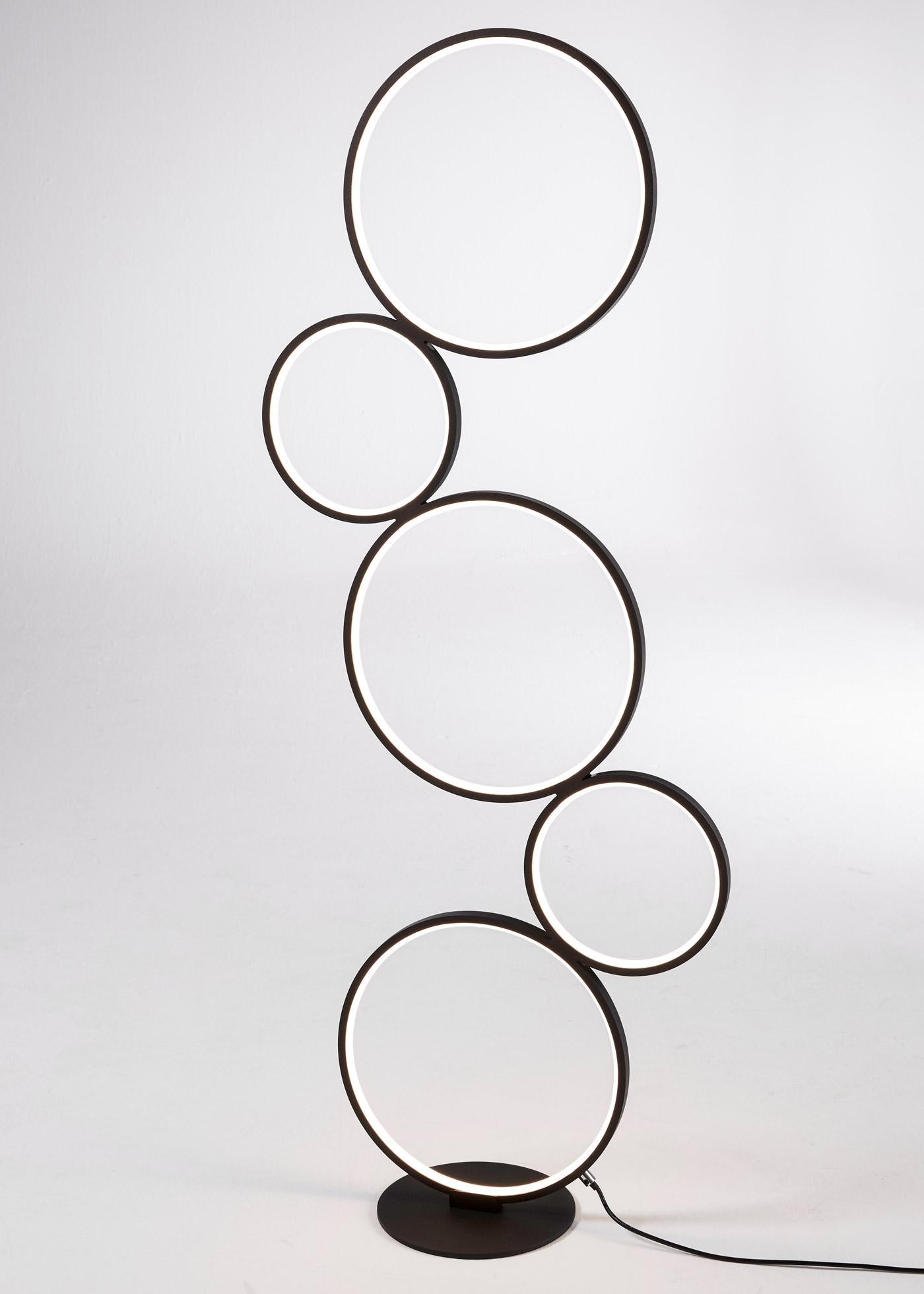 LED-Stehleuchte Kreise