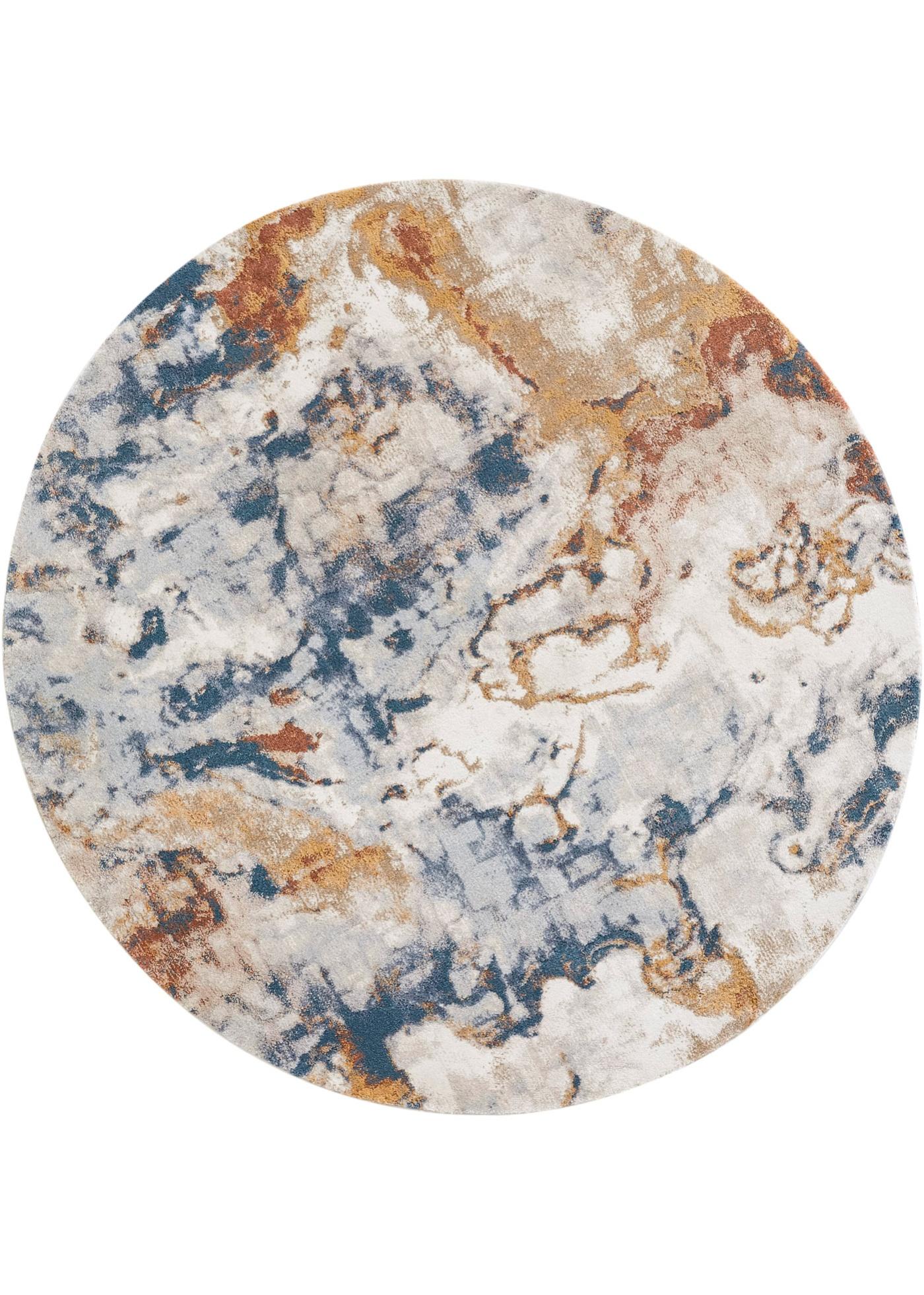 Runder Teppich mit Marmoreffekt