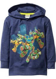 """TURTLES"" Kapuzenshirt, Teenage Mutant Ninja Turtles, dunkelblau melange ""TURTLES"""