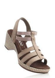 Ledersandale, bpc bonprix collection, taupe