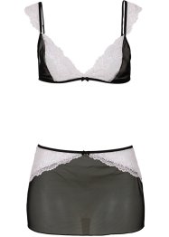 Triangel-BH+Rock (2tlg. Set), schwarz/rosa