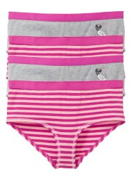 Panty (4er-Pack), bpc bonprix collection, hellgrau meliert/puderrosa gestreift
