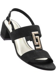 Sandalette, bpc bonprix collection, schwarz/silber