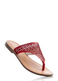 Lederpantolette, bpc bonprix collection, rot