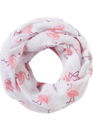 Loop Flamingo, bpc bonprix collection, weiß/rosa