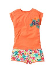 Shorty-Pyjama (2-tlg.), bpc bonprix collection, orange/bunt