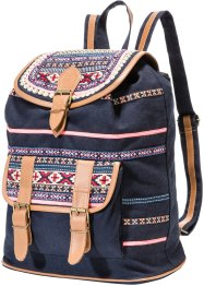 Rucksack Ethno, bpc bonprix collection, schwarz multi