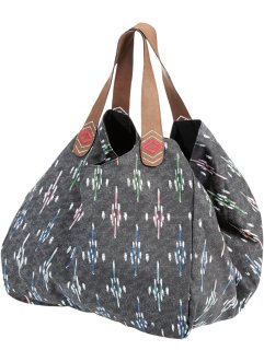Shopper mit Muster, bpc bonprix collection, grau