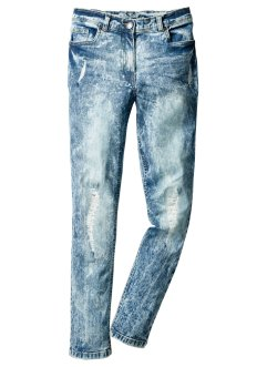 Skinny Jeans im Destroyed Look, John Baner JEANSWEAR, blue stone