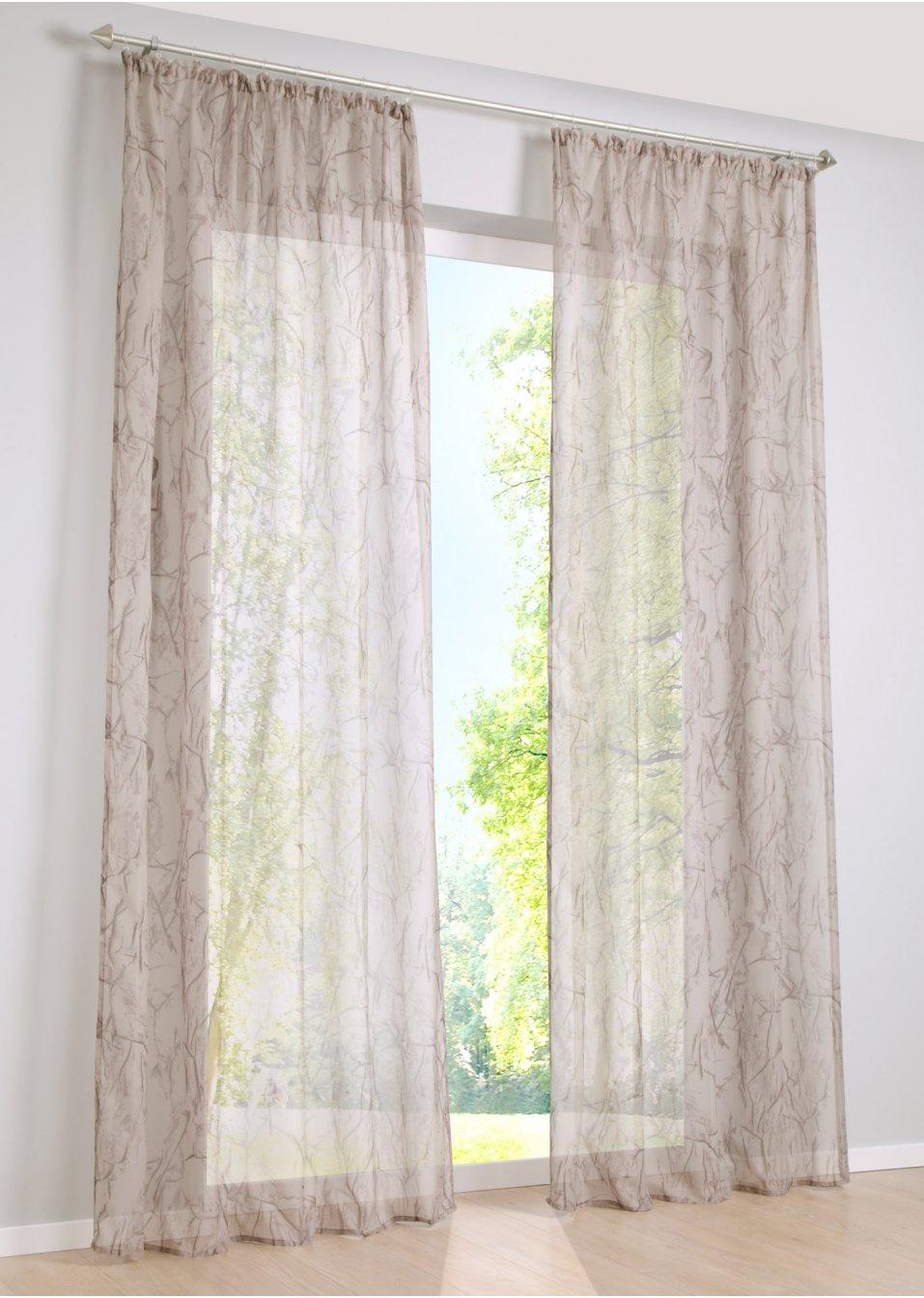 gardine bjarne 1er pack creme bpc living. Black Bedroom Furniture Sets. Home Design Ideas