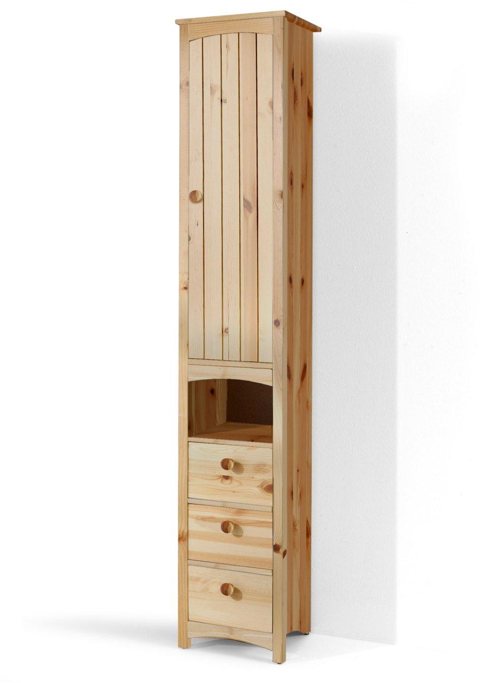 Platzsparender schmaler badezimmer hochschrank paula natur schmal - Badezimmer schmal ...
