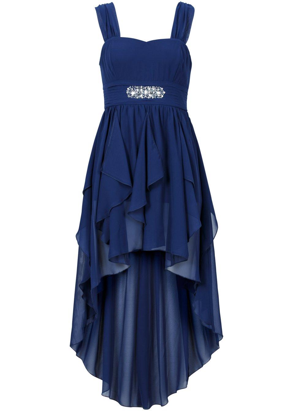 geschmackvolles kleid mit schmucksteinen mitternachtsblau. Black Bedroom Furniture Sets. Home Design Ideas