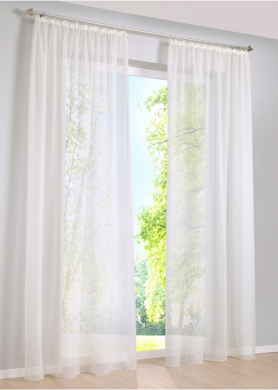 lufitg und leicht unifarbene seitenschals aus voile creme kr uselband 2er pack. Black Bedroom Furniture Sets. Home Design Ideas