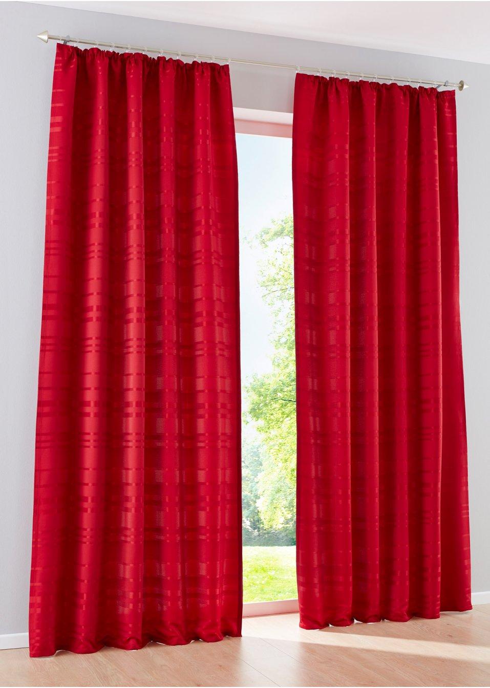Vorhang stripes 1er pack kr uselband beere wohnen for Bonprix vorhang