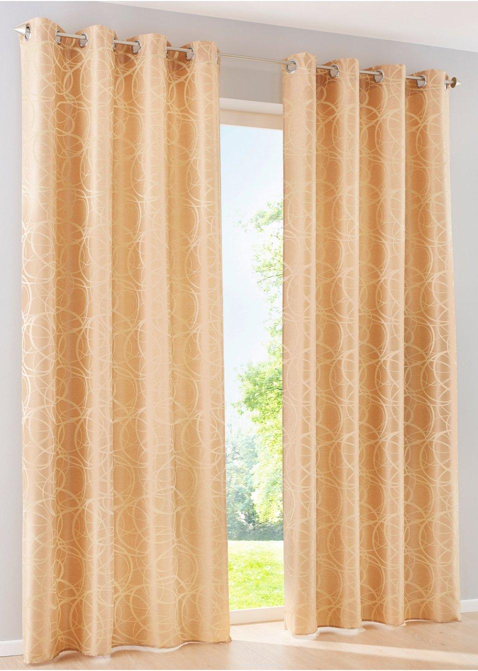 vorhang nick 1er pack sen gold bpc living online. Black Bedroom Furniture Sets. Home Design Ideas