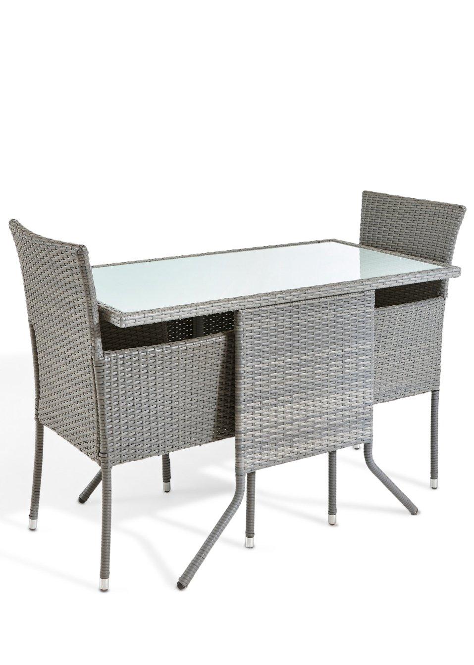 hochwertig und modern das 5 tlg balkonm bel set soroni grau. Black Bedroom Furniture Sets. Home Design Ideas