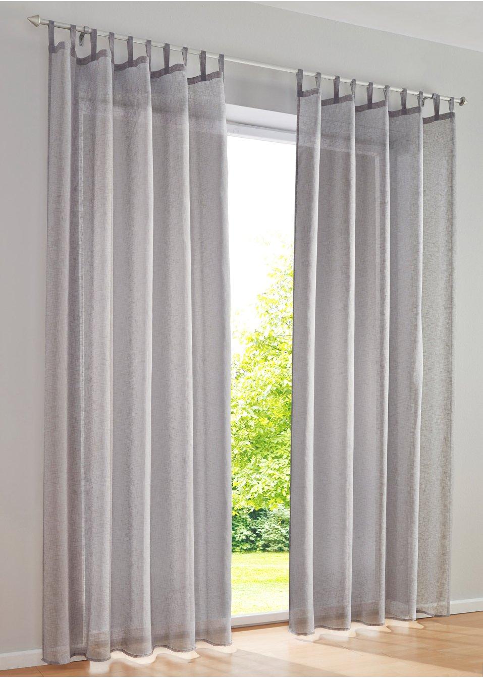 gardine gabby 1er pack grau bpc living online. Black Bedroom Furniture Sets. Home Design Ideas