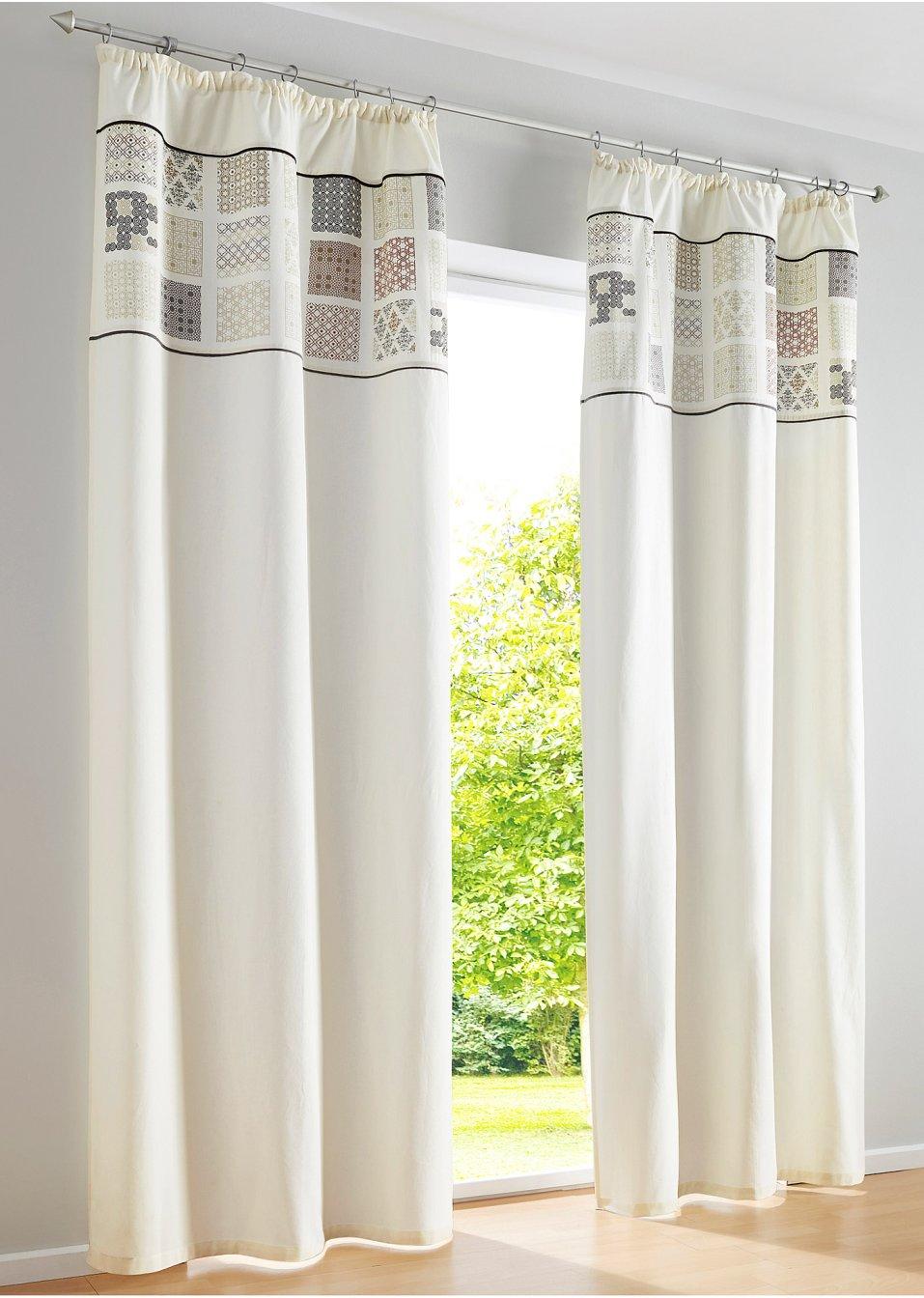 Vorhang amber 1er pack kr uselband natur bpc living for Bonprix vorhang