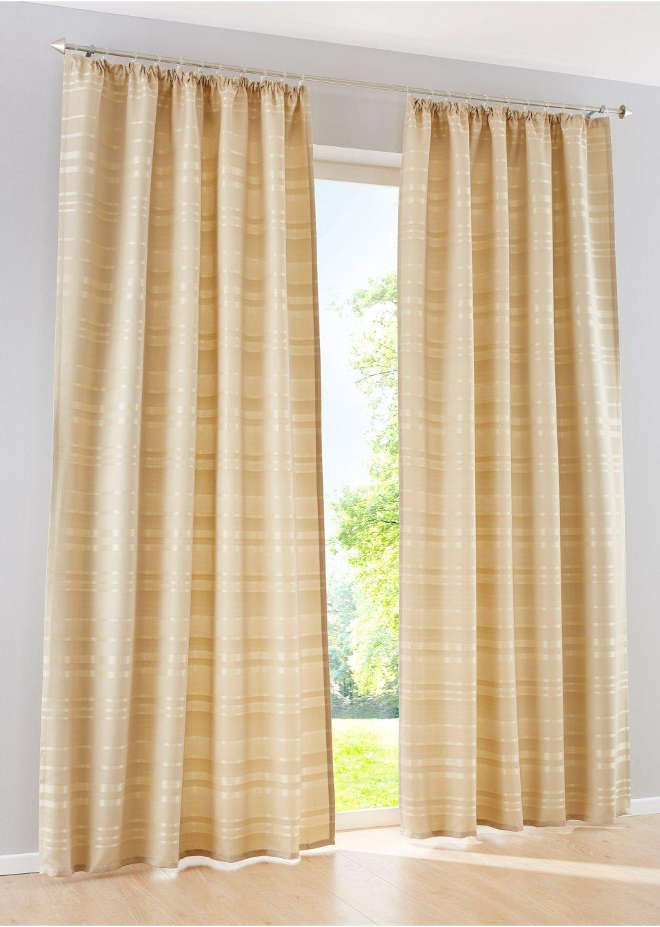 Vorhang stripes 1er pack sand wohnen - Bonprix vorhang ...