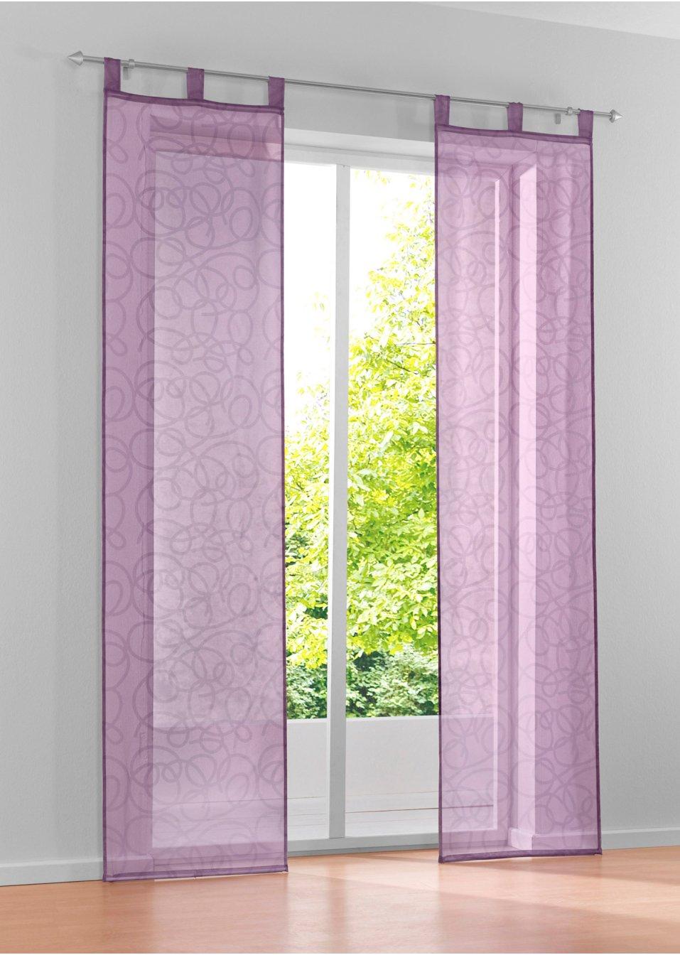 tolle fensterdekoration die schiebegardine vivien lila. Black Bedroom Furniture Sets. Home Design Ideas