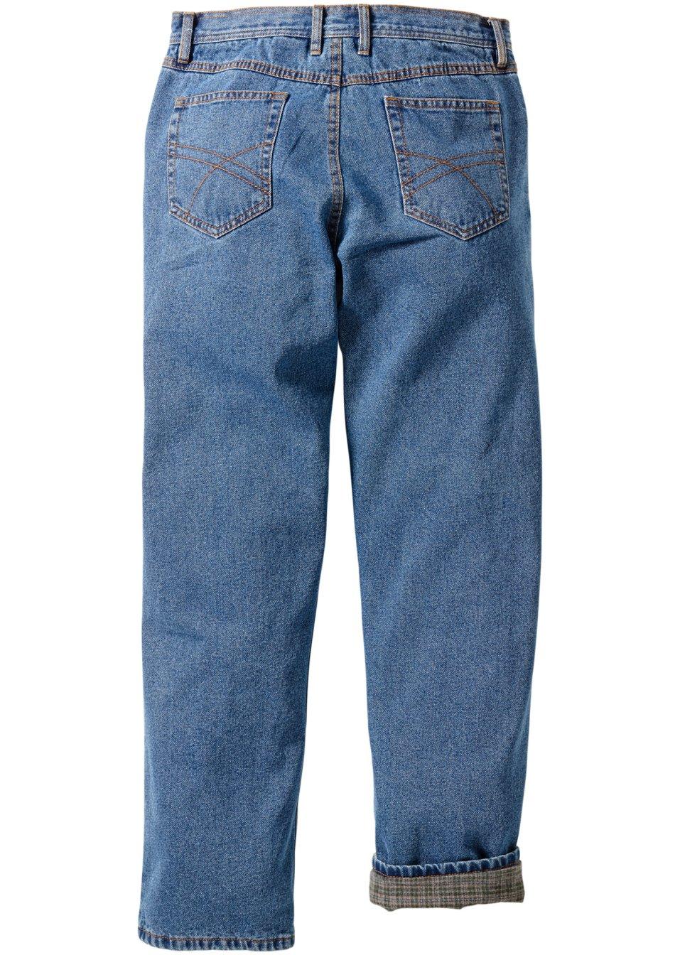 thermo jeans f r herren mit weichem flanellfutter blau u s gr e. Black Bedroom Furniture Sets. Home Design Ideas