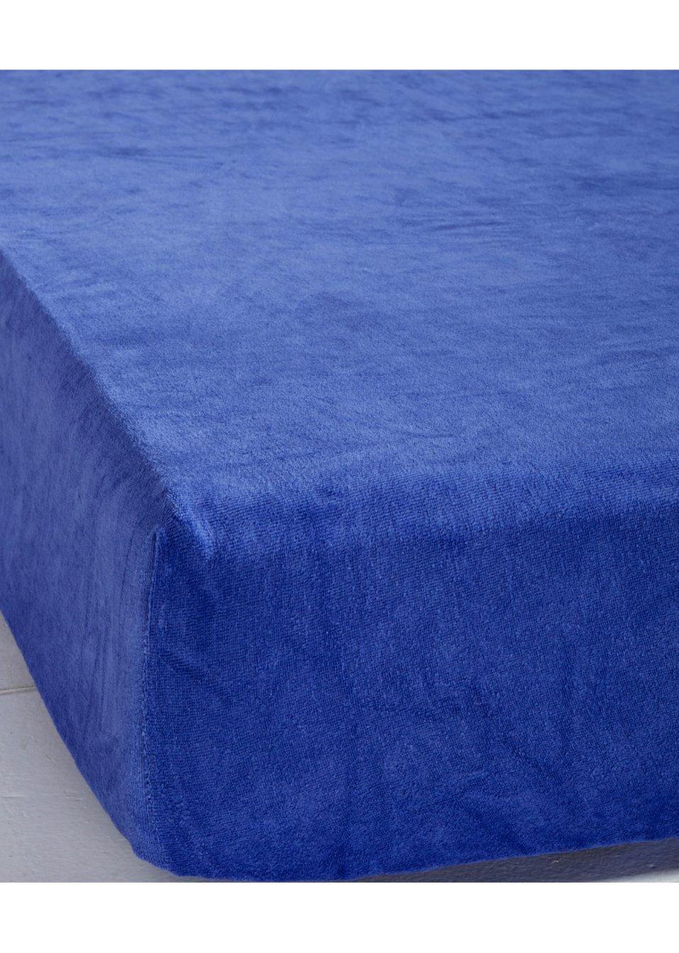 f r erholsamen schlafkomfort spannbettlaken nicki blau. Black Bedroom Furniture Sets. Home Design Ideas