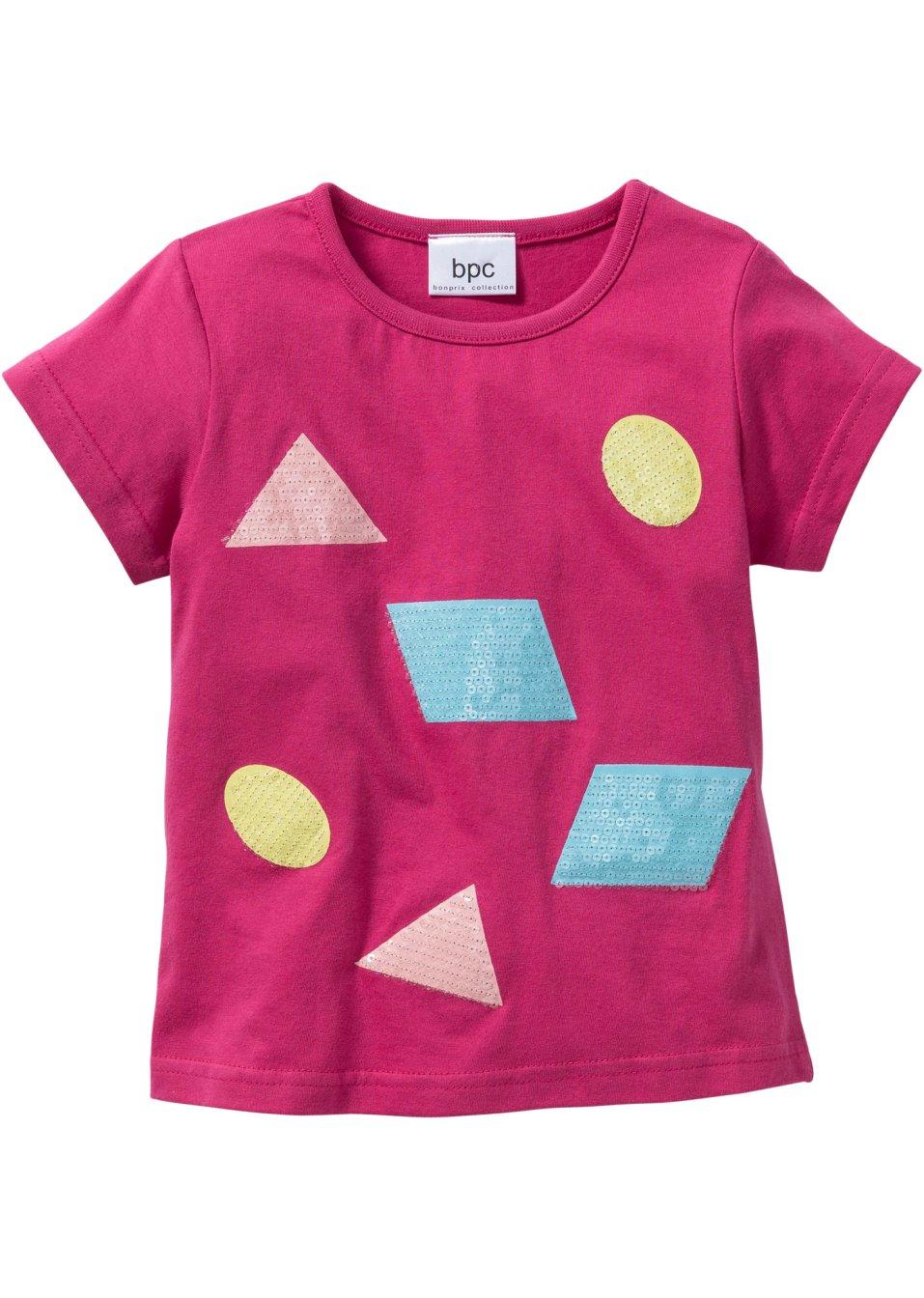 shirt mit pailletten gr 80 86 128 134 mediumpink online kaufen. Black Bedroom Furniture Sets. Home Design Ideas