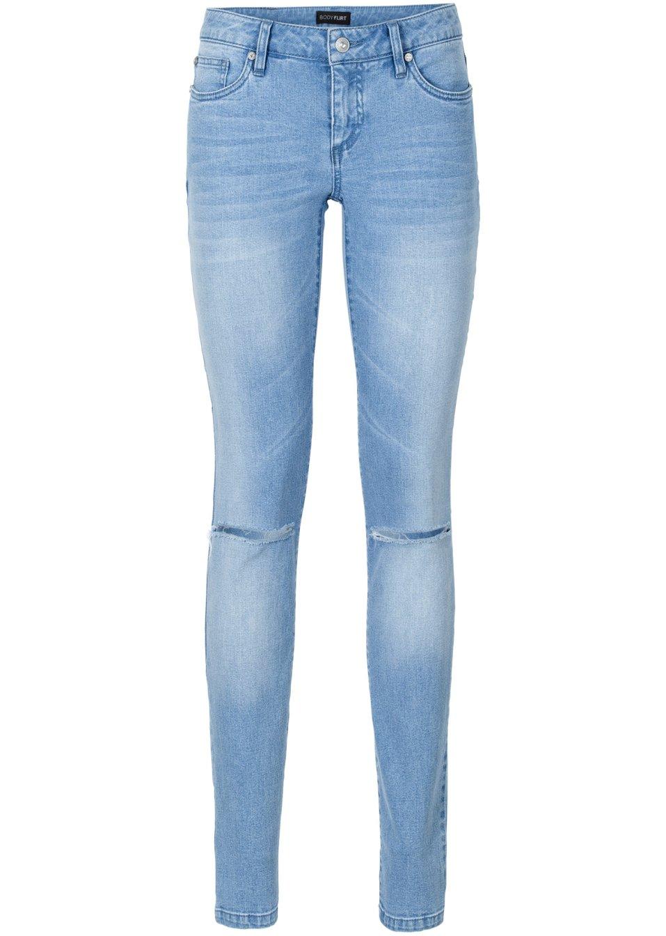 eng anliegende jeans mit schlitzen und push up effekt. Black Bedroom Furniture Sets. Home Design Ideas