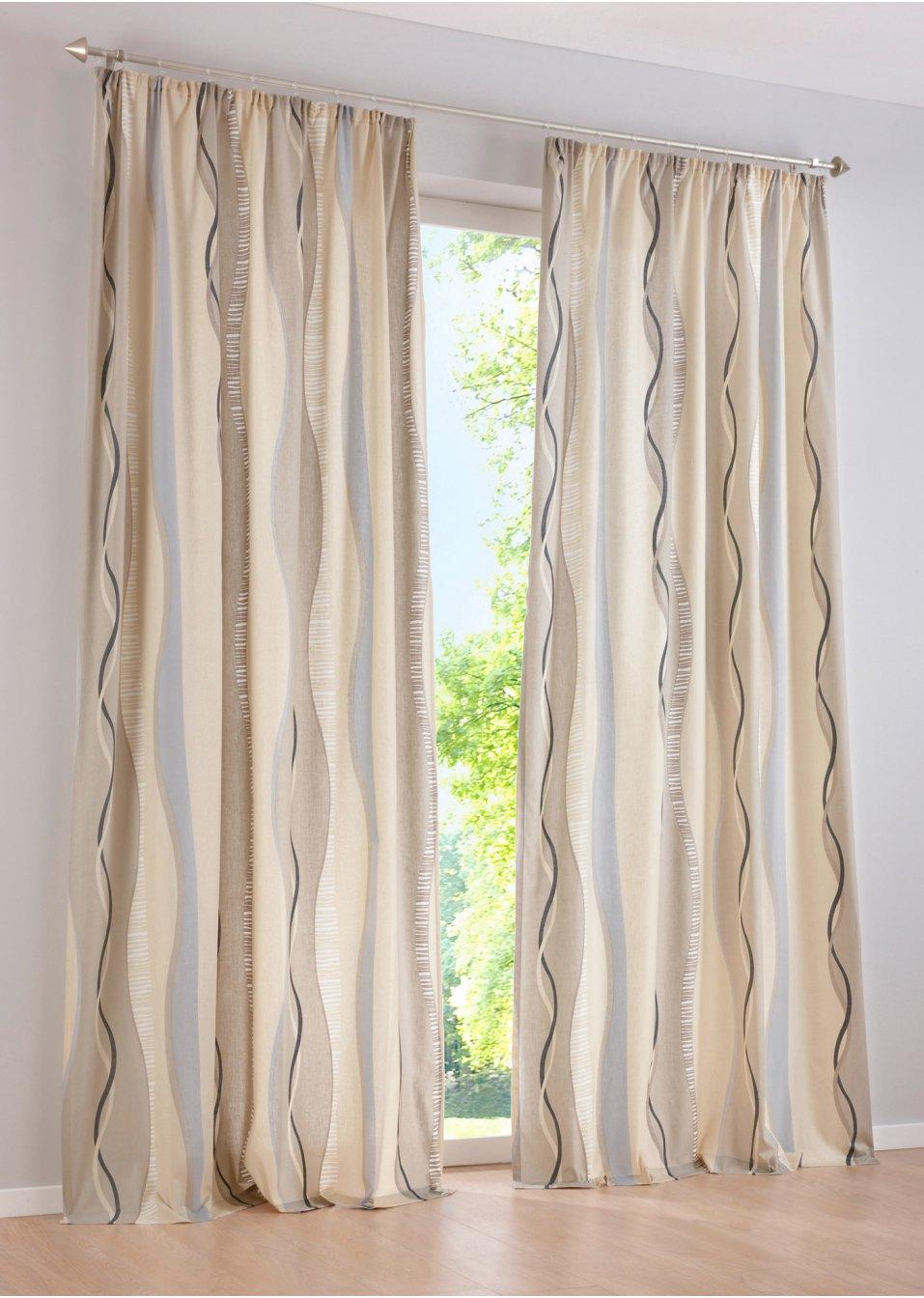 Vorhang timba 1er pack sand bpc living online kaufen - Bonprix vorhang ...
