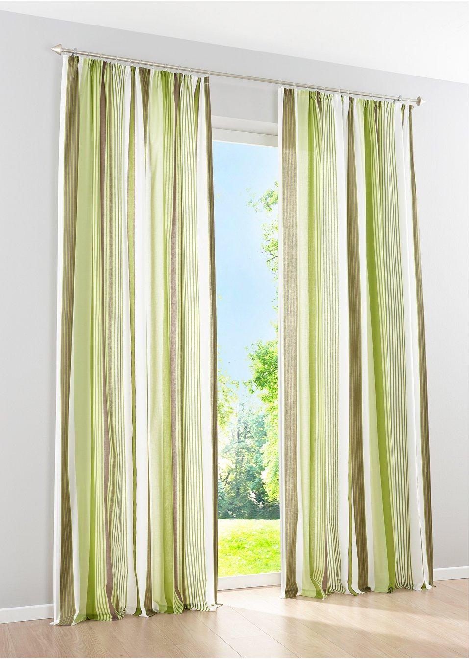 vorhang lilly 1er pack kr uselband gr n bpc living online bestellen. Black Bedroom Furniture Sets. Home Design Ideas
