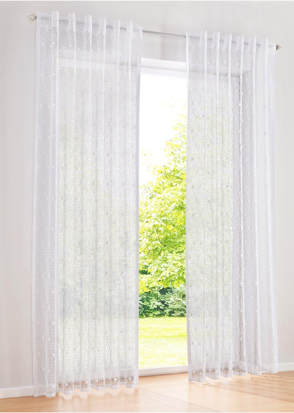gardine penny 1er pack wei bpc living online kaufen. Black Bedroom Furniture Sets. Home Design Ideas