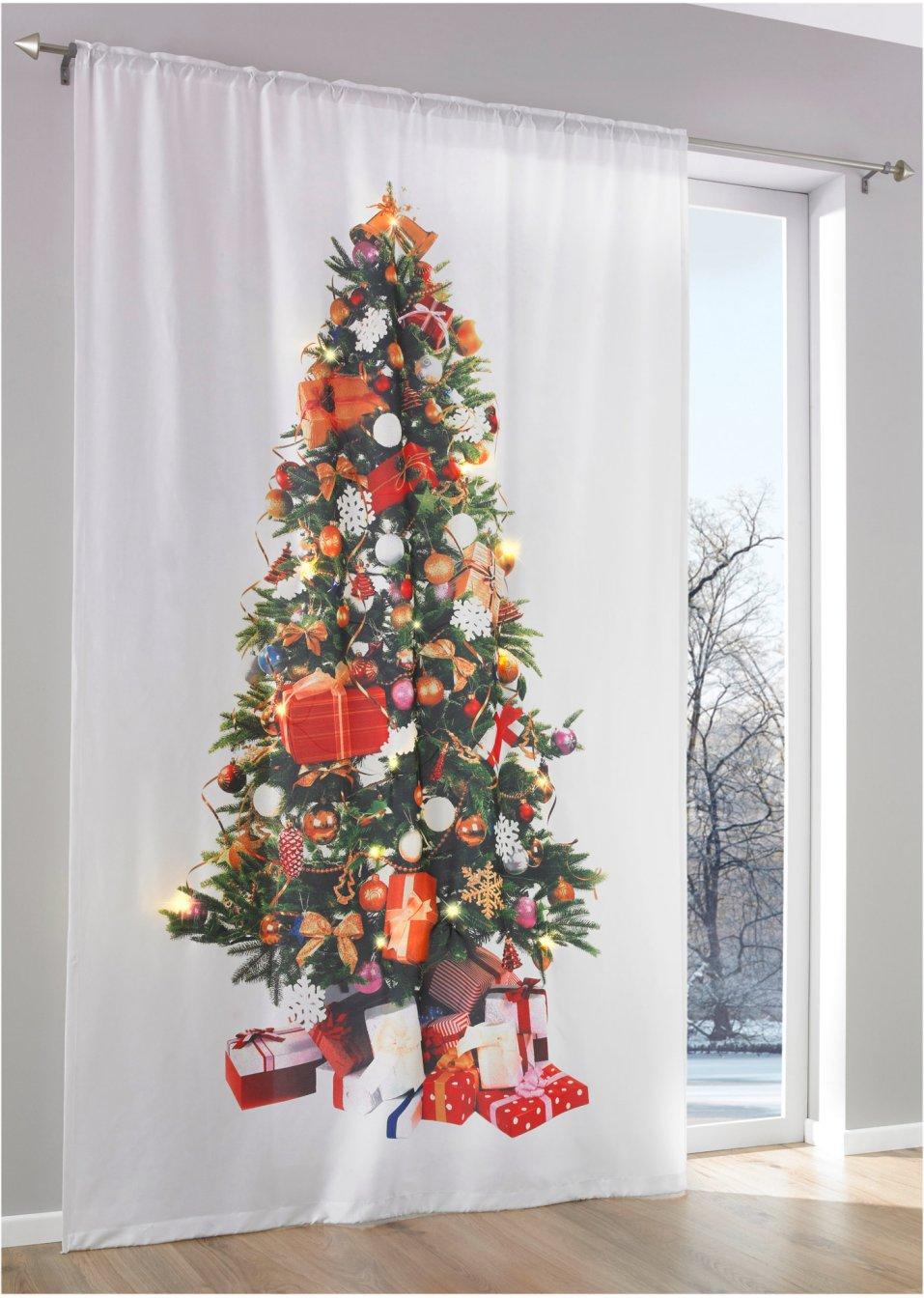 Vorhang led weihnachtsbaum 1er pack wei bunt bpc for Weihnachtsbaum vorhang