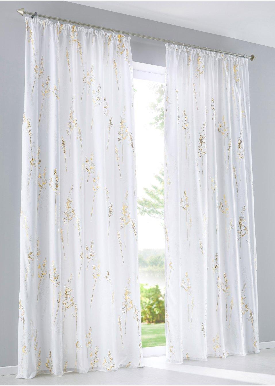 vorhang petra 1er pack wei gold silber bpc living online bestellen. Black Bedroom Furniture Sets. Home Design Ideas
