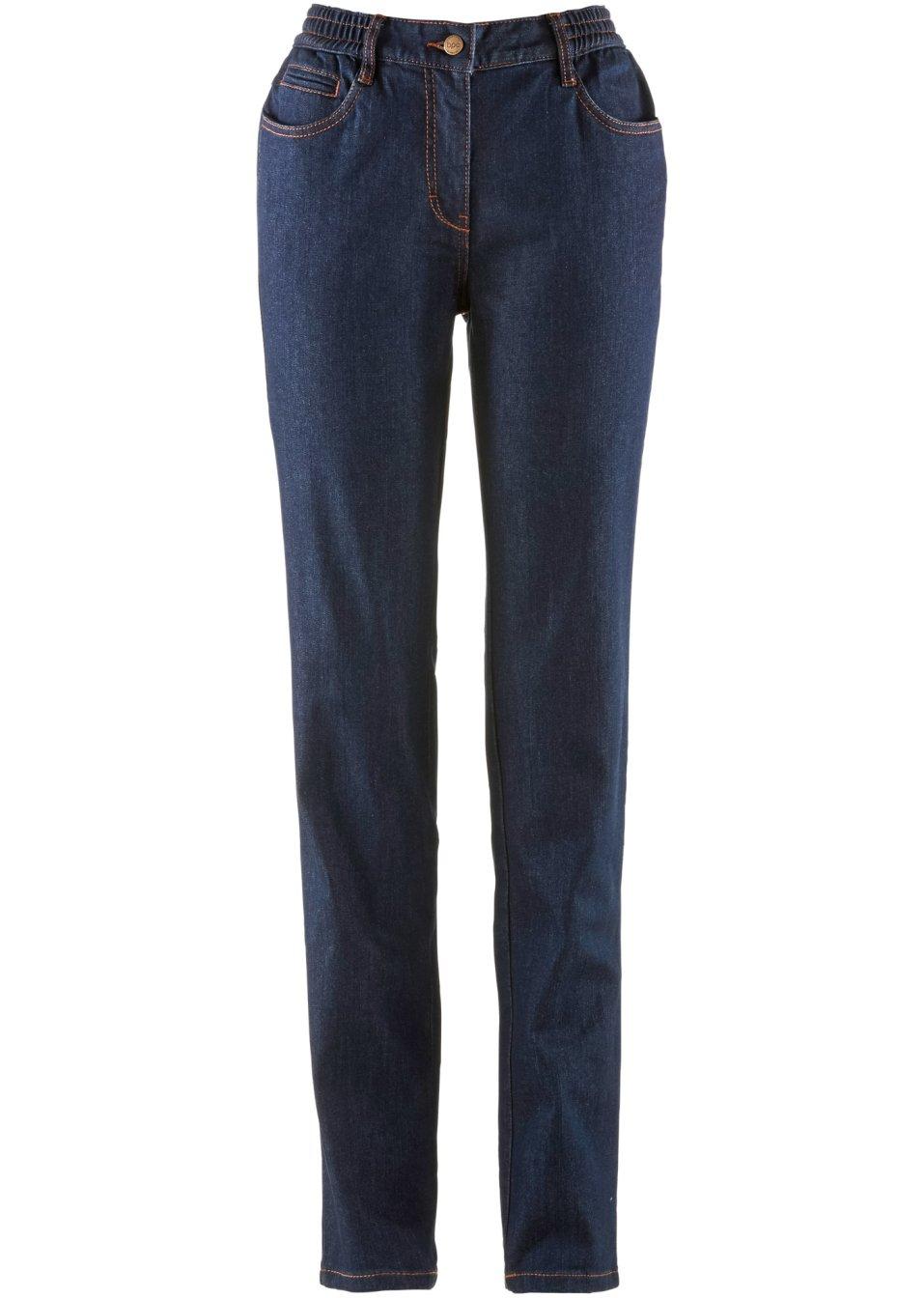 bequeme jeans mit elastischem gummibund darkblue stone. Black Bedroom Furniture Sets. Home Design Ideas