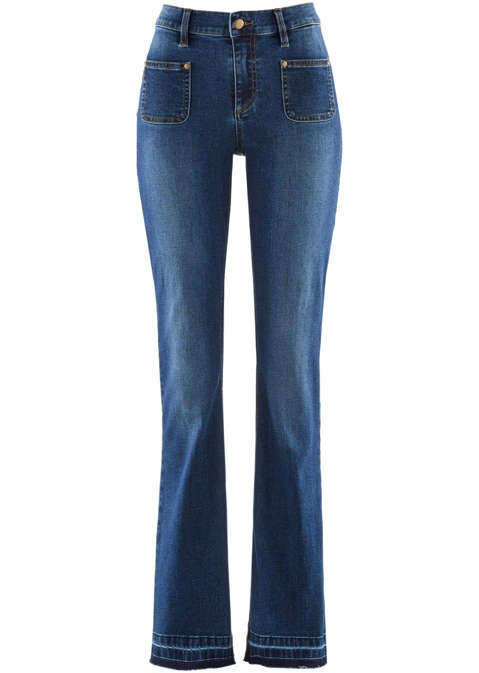 angesagte bootcut jeans mit push up effekt und offenem. Black Bedroom Furniture Sets. Home Design Ideas