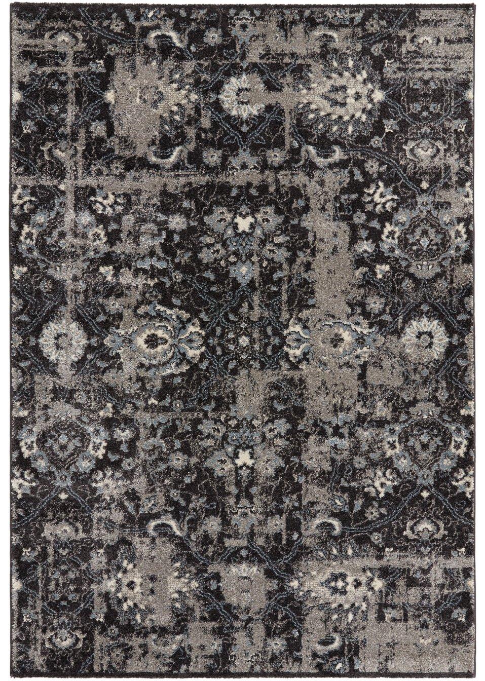 Gewebter teppich ramona in vintage optik grau blau - Teppich bonprix ...