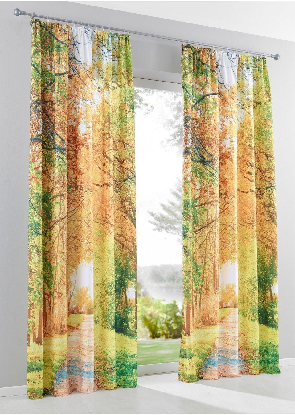 vorhang herbstlandschaft 1er pack orange bpc living online bestellen. Black Bedroom Furniture Sets. Home Design Ideas