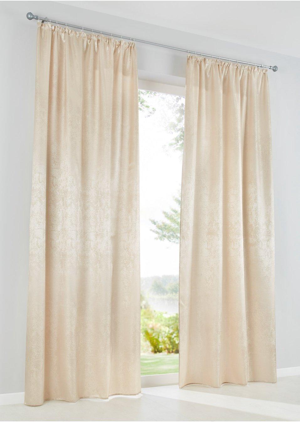 vorhang glanz 1er pack sand bpc living online bestellen. Black Bedroom Furniture Sets. Home Design Ideas
