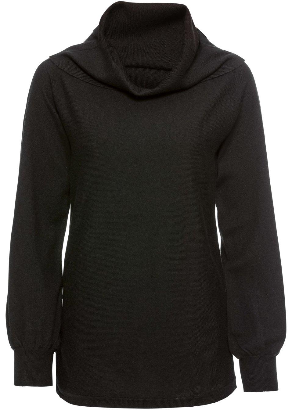 femininer pullover mit rollkragen schwarz. Black Bedroom Furniture Sets. Home Design Ideas