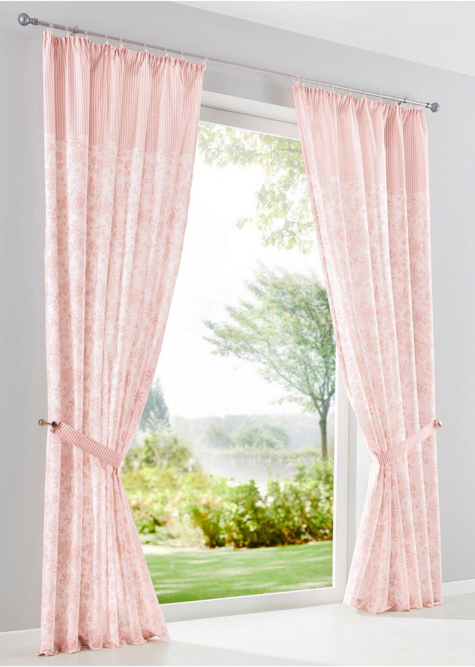 vorhang rebecca 1er pack rose bpc living online bestellen. Black Bedroom Furniture Sets. Home Design Ideas
